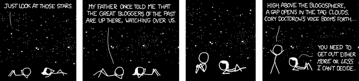 Starwatching (Cartoon from xkcd, #428, released under CC-BY-NC)